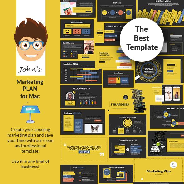 John's Marketing Plan Keynote Presentation Template