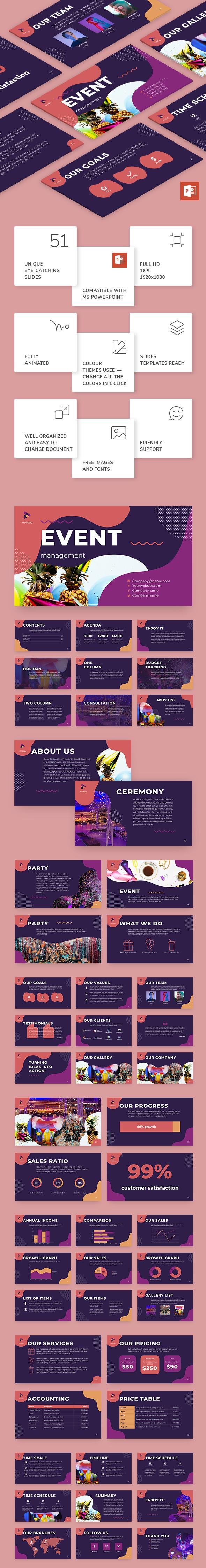 Event Management PowerPoint Presentation Template