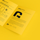 US Letter Bifold Brochure Mockup - GraphicRiver Item for Sale