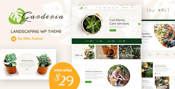 Garderia – Landscaping & Gardening  WordPress Theme Preview