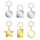 Shiny Golden and Silver Metal Keychains Set - GraphicRiver Item for Sale