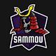 SAMMOU – Samurai Skull Esports Mascot - GraphicRiver Item for Sale