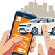 Online Buying and Selling Car - GraphicRiver Item for Sale