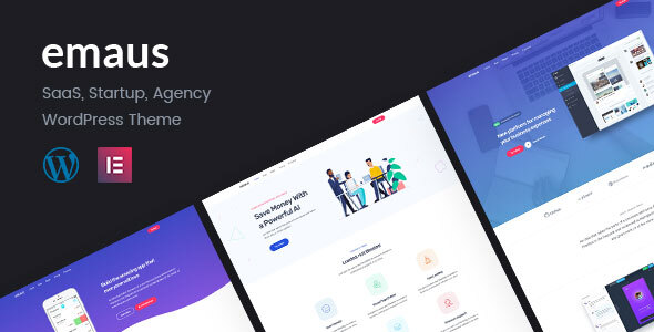 Emaus | SaaS App and Startup Elementor WordPress Theme