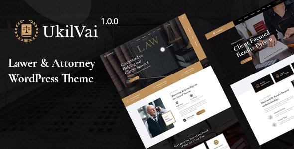 Ukilvai – Lawyer & Attorney WordPress Theme Preview