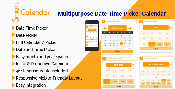 SmartCalendar - Multipurpose Date Time Picker Calendar