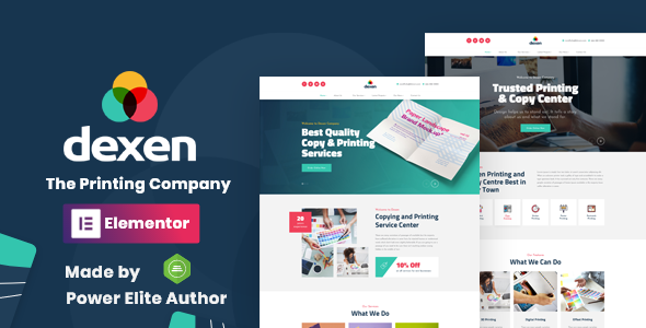 Dexen - Printing Company WordPress Theme