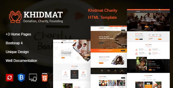 Khidmat Charity, Fundraising & Donation HTML Template