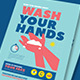Wash Your Hands Poster Campaign - GraphicRiver Item for Sale