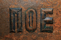 Aged embossed copper cyrillic letters on rusty surface - PhotoDune Item for Sale