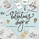 Valentine's Day Lettering & Clipart - GraphicRiver Item for Sale