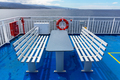Deck with Benches on a Ship - PhotoDune Item for Sale