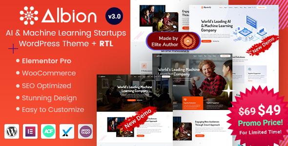Albion - Machine Learning & AI WordPress Theme