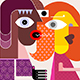 Gossiping Couple - GraphicRiver Item for Sale