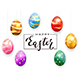 Colored Easter Eggs on White Background - GraphicRiver Item for Sale