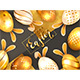 Golden Easter Eggs with Rabbit Ears - GraphicRiver Item for Sale