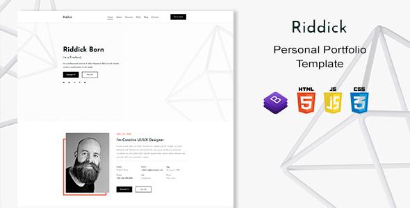 Riddick - Personal Portfolio Template