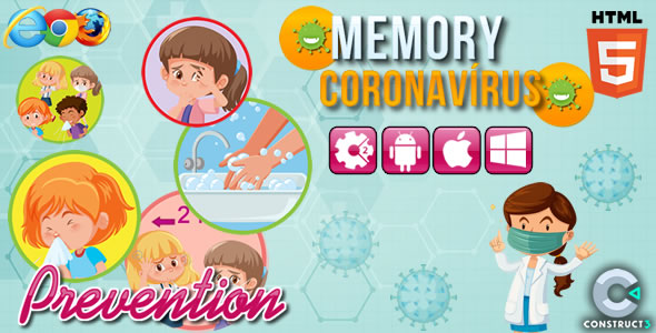 Memory Coronavirus - HTML5 Game (CAPX) Download