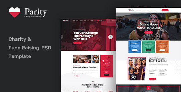 Parity -  Charity NonProfit PSD Template