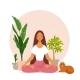 Girl Meditation - GraphicRiver Item for Sale