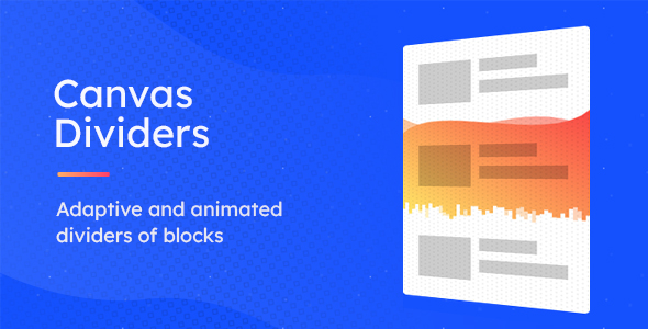 CDivs – Adaptive and Animated Canvas Dividers of Blocks Download