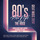 80's Retro Night Flyer/Poster - GraphicRiver Item for Sale