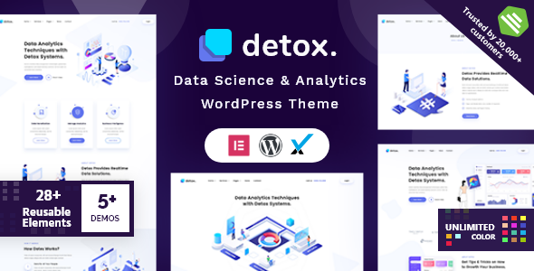 Detox - Data Science & Analytics WordPress Theme