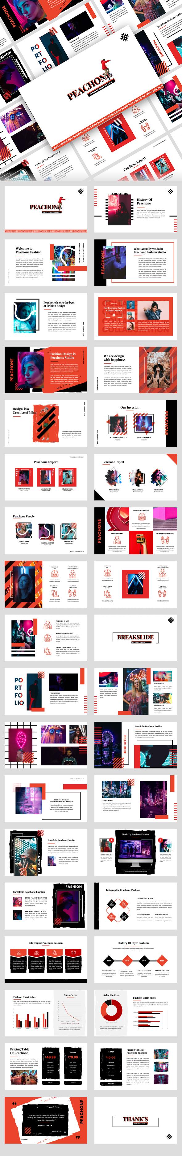 Peachone - Fashion Creative Google Slides Presentation