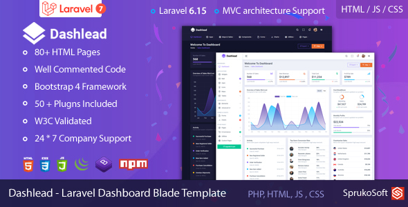 Dashlead – Laravel Admin Template