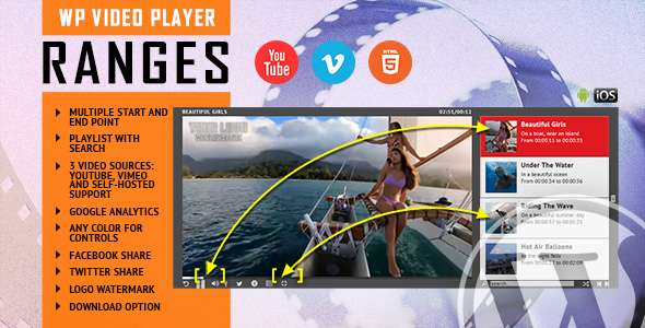 RANGES - Video Player With Multiple Start and End Points - WordPress Plugin