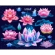 Set of Isolated Lotuses - GraphicRiver Item for Sale