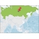 The Russian Federation Location on Asia Map - GraphicRiver Item for Sale