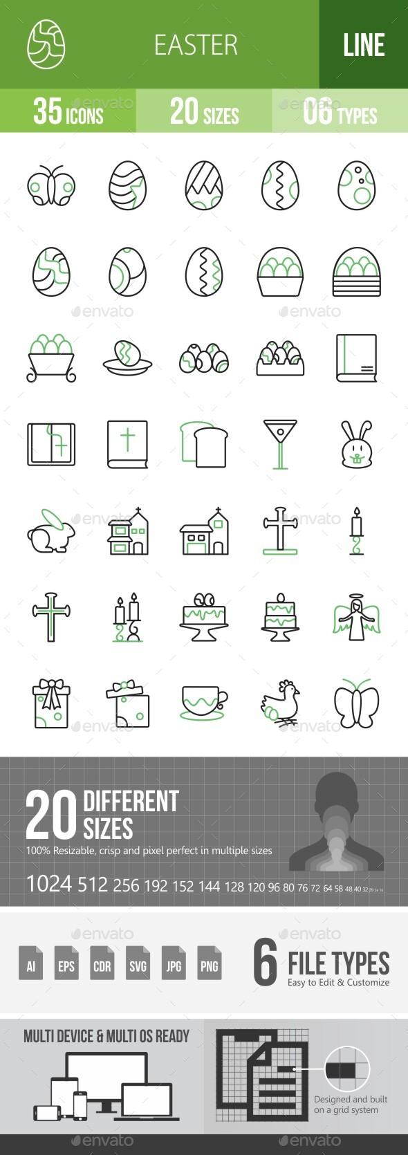 Easter Line Green & Black Icons Season III