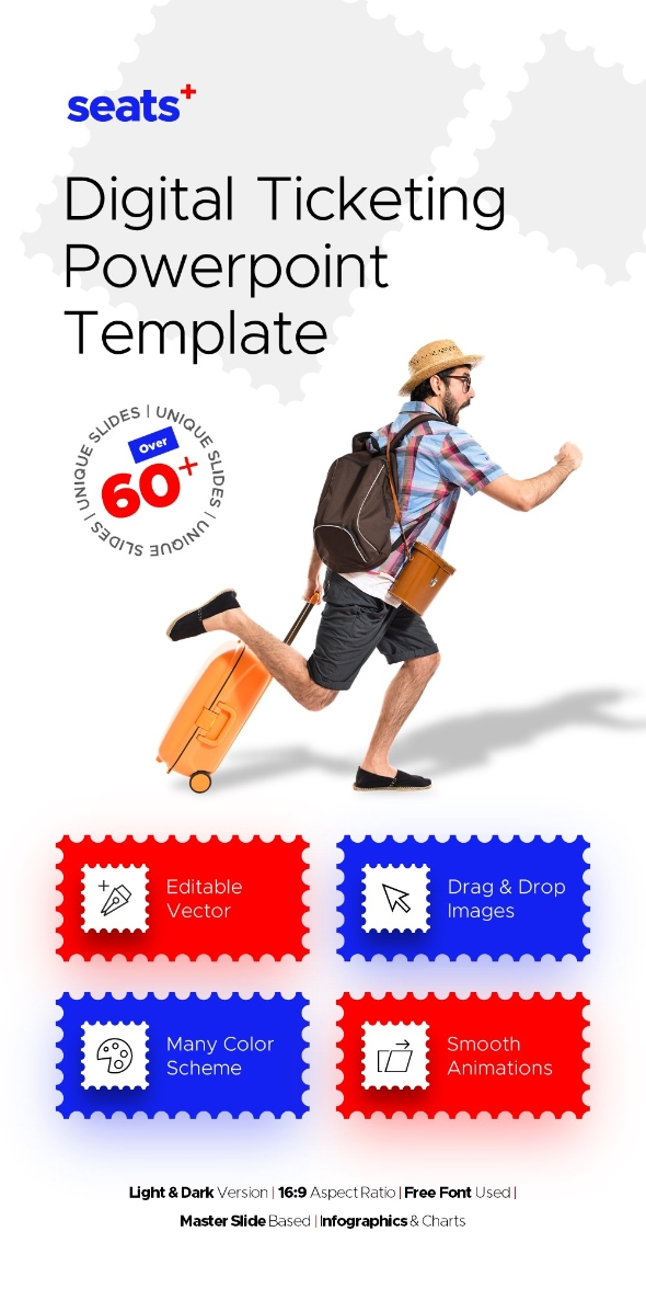 Seats+ Travel Powerpoint Presentation Template Fully Animated