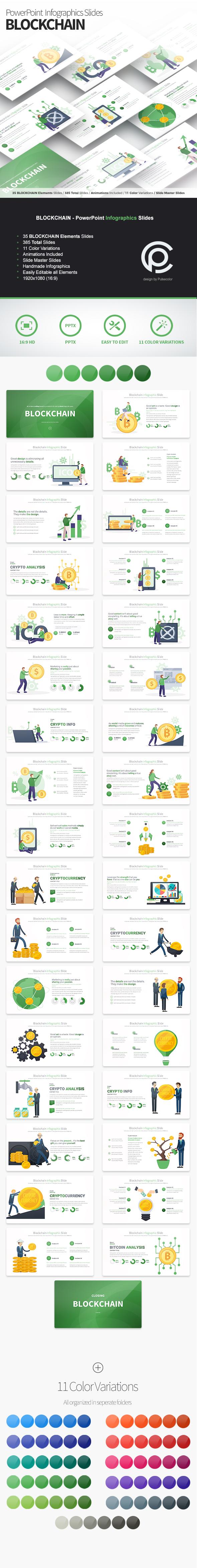BLOCKCHAIN - PowerPoint Infographics Slides