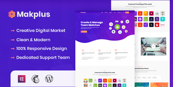 Makplus – Digital Marketplace WordPress Theme Preview