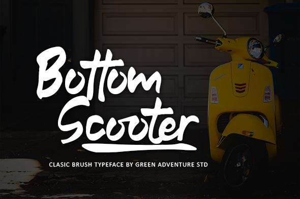 Bottom Scooter - Clasic Brush Typeface