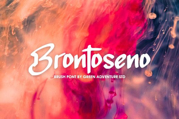 Brontoseno - A Brush Font