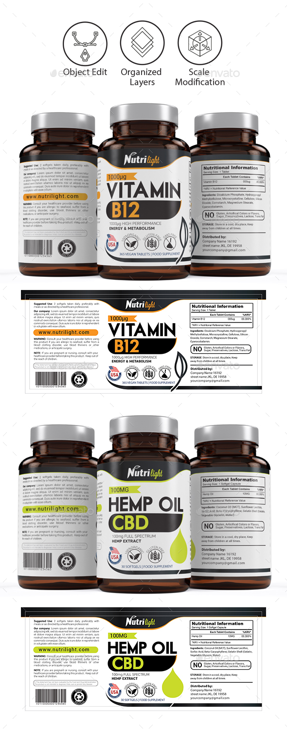 Supplement Label Template - Vol 18
