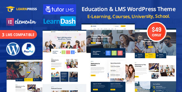 Edubin - Education WordPress Theme