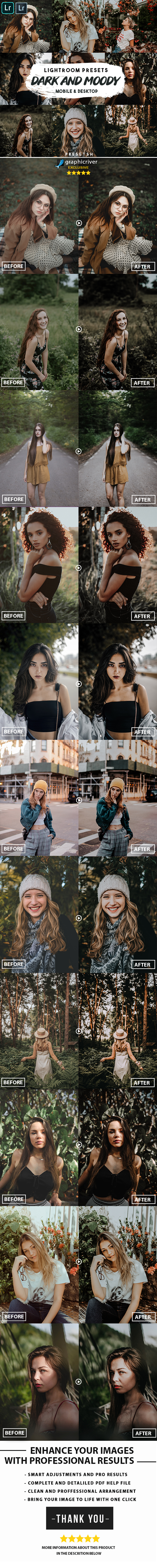 Dark Moody Lightroom Presets Mobile & Desktop