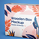 Wooden Box Mockup - GraphicRiver Item for Sale