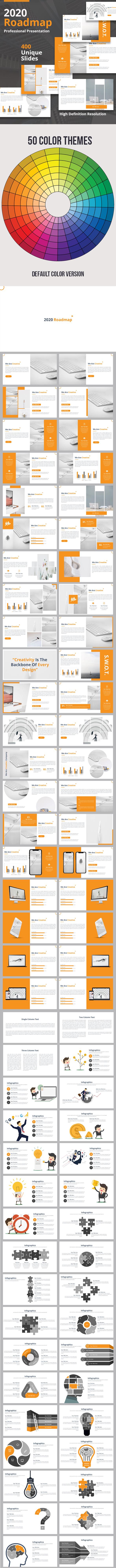 2020 Roadmap - Multipurpose Powerpoint Template