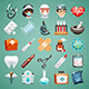 Cartoon Medical Icons Set - GraphicRiver Item for Sale