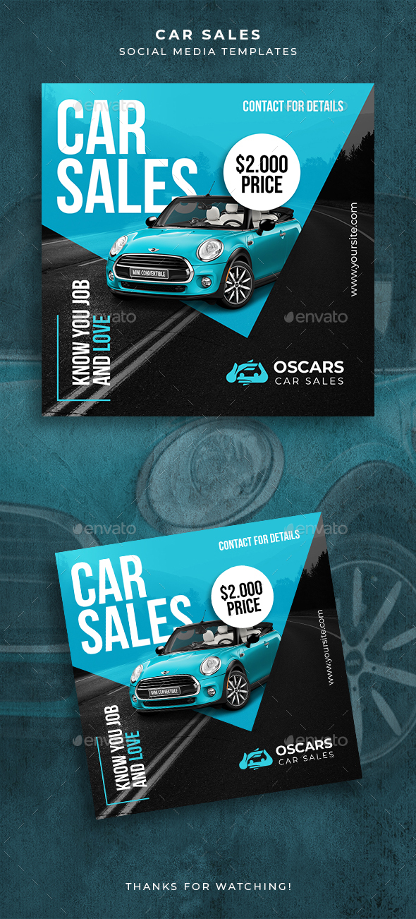 Car Sales Social Media Templates