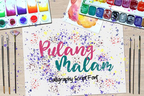 Pulang Malam - Calligraphy Script Font