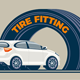Tire Fitting Service Station - GraphicRiver Item for Sale