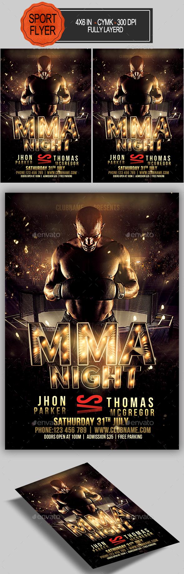 MMA Night Flyer