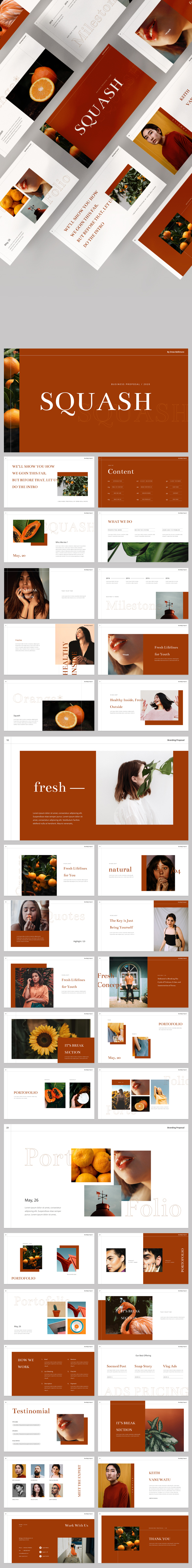 Squash Powerpoint Template