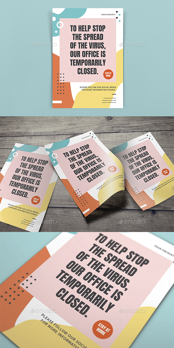 Stay at Home Flyers Template